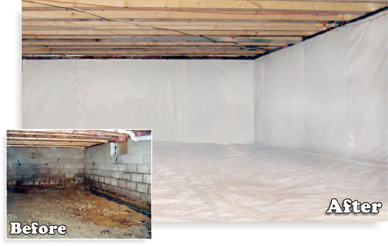 Basement before and after pictures